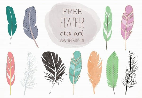 Design Freebies Of The Week No 46 Feather Clip Art Clip Art