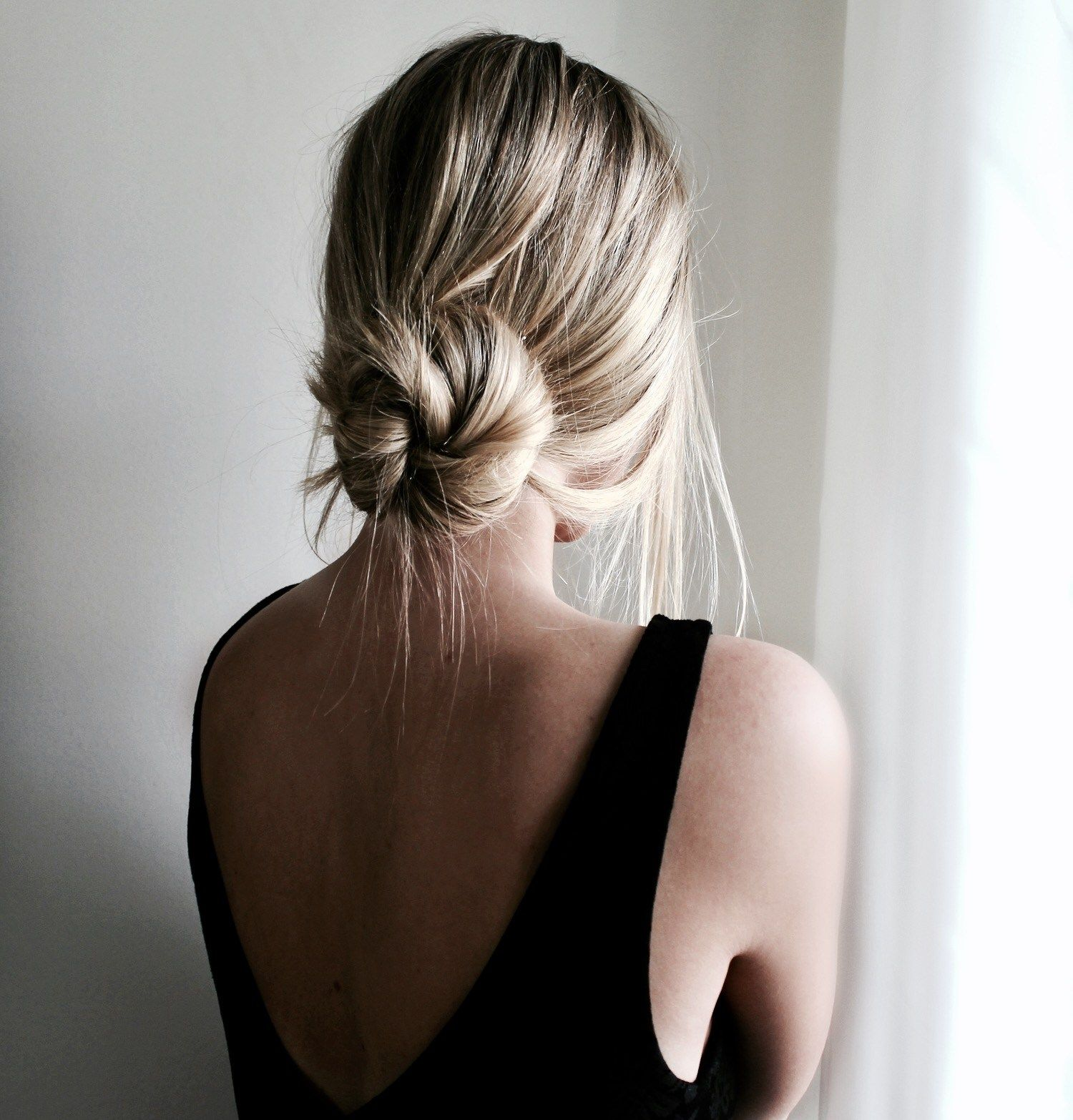 Sundays In A Messy Bun Easy Bun Hairstyles Low Bun Hairstyles Thick Hair Styles