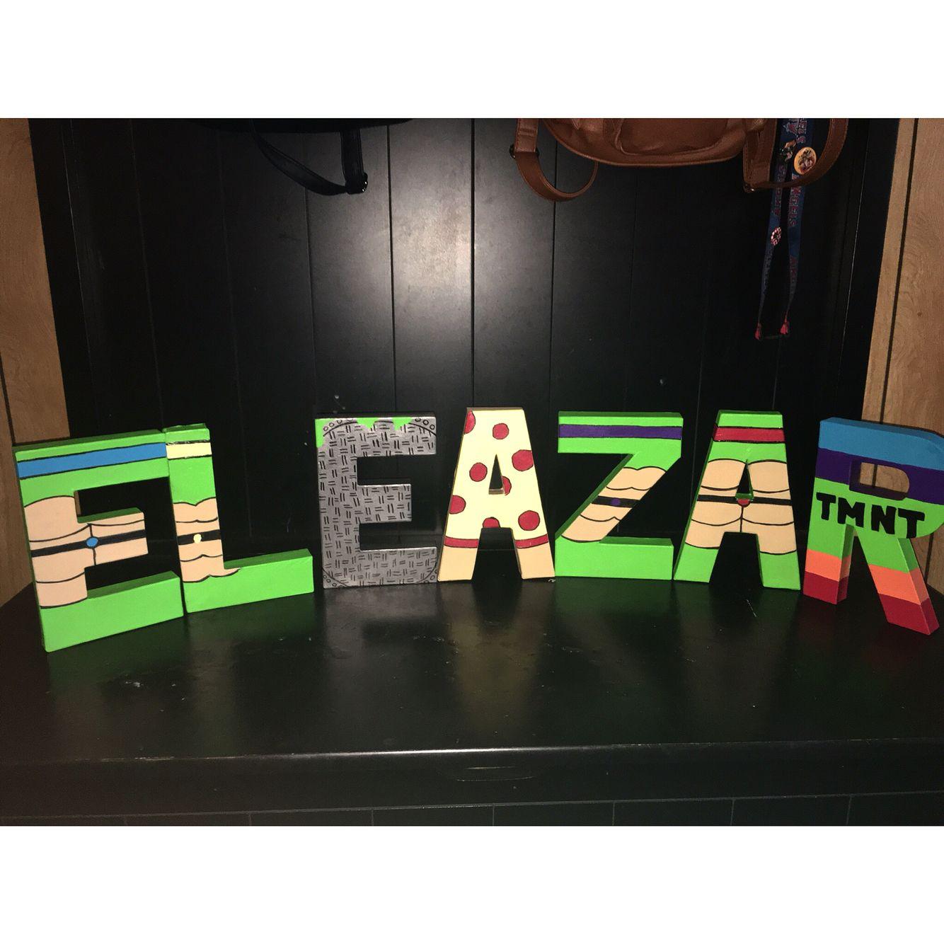 inch ninja turtle letters for eleazar creative customs letter