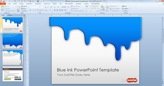 Free blue ink powerpoint template qwanonyanutgmail free blue ink powerpoint template toneelgroepblik Image collections