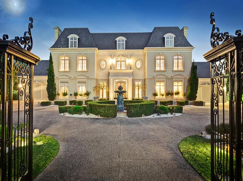 french chateau style home | french chateau style gated mansion in