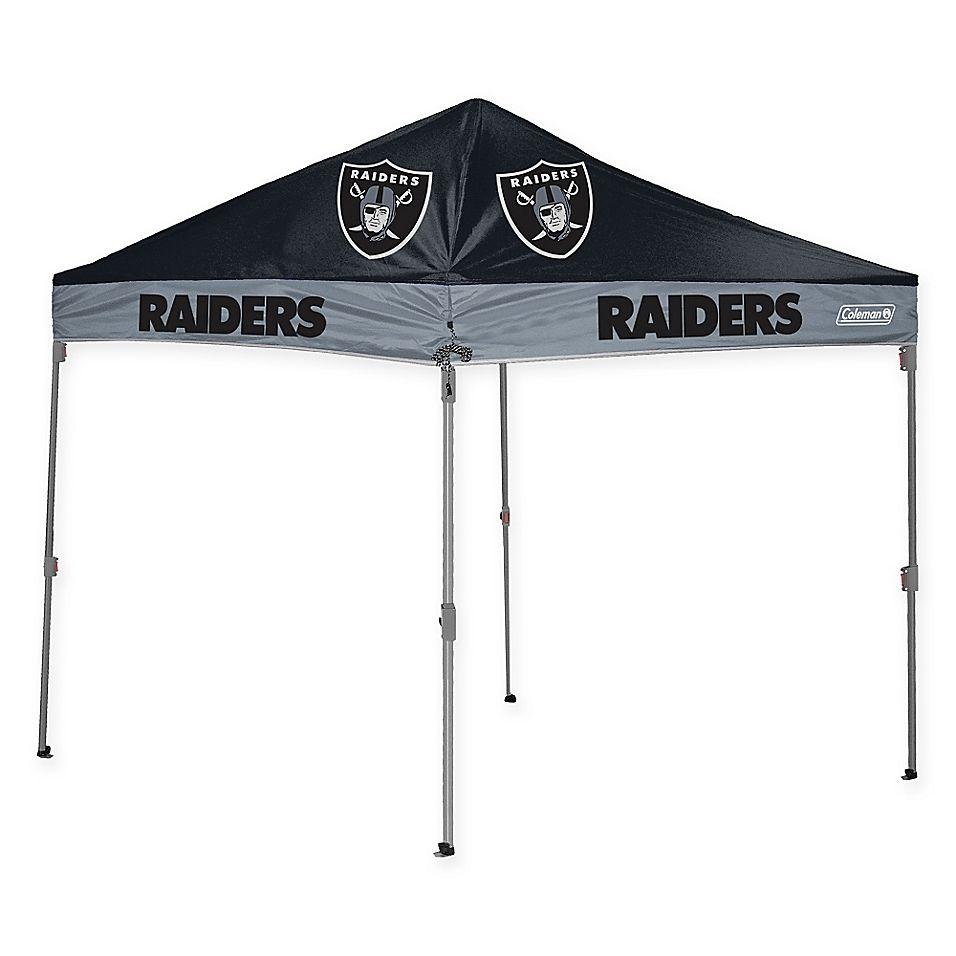 Nfl Oakland Raiders Straight Leg 10 Foot X 10 Foot Canopy With Case Nfl Oakland Raiders Oakland Raiders Tailgate Gear
