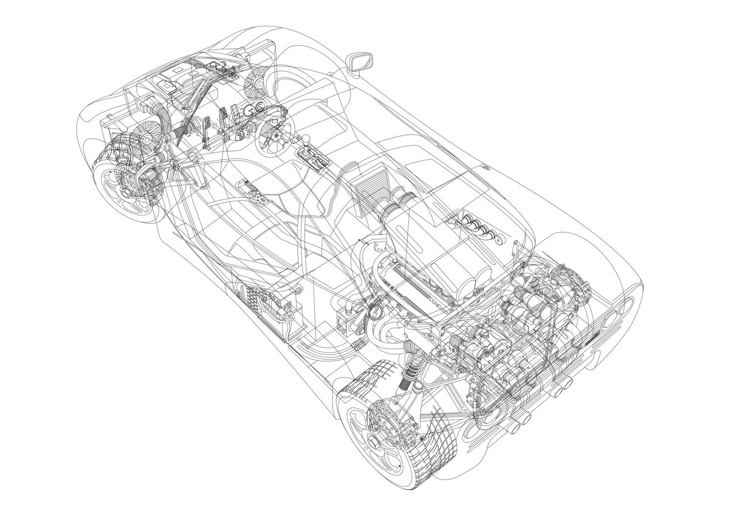 These Original Mclaren F1 Technical Drawings Are From The