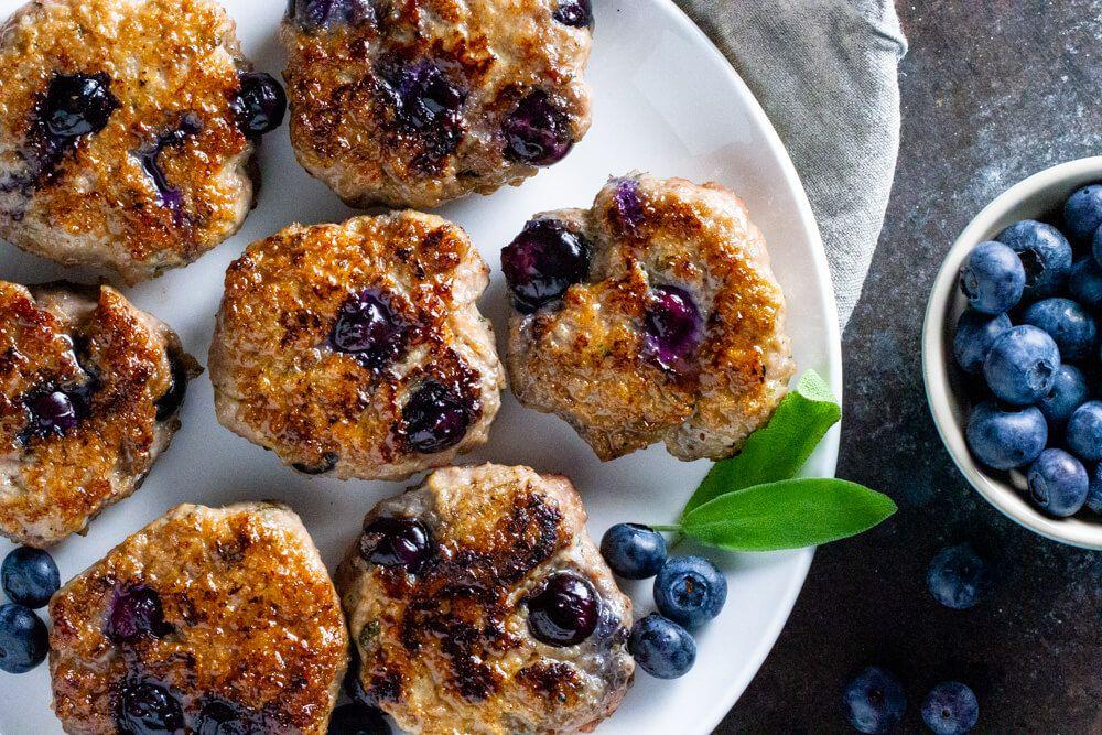 Blueberry turkey breakfast sausage paleo and whole30