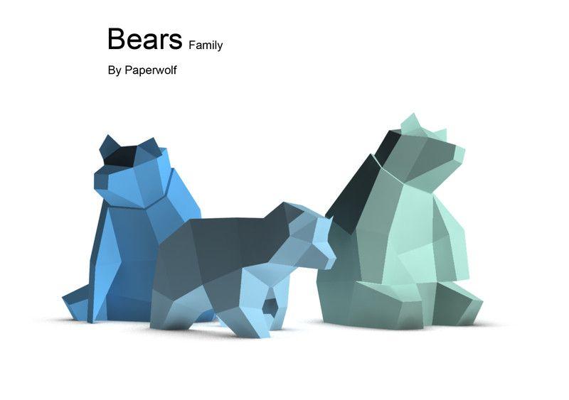 Wolfram Kampffmeyer || Bears Family || https://www.facebook.com/paperwolf.info/timeline