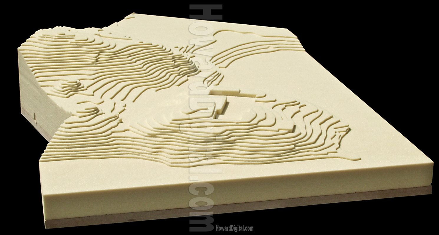 how to draw contour lines building plan