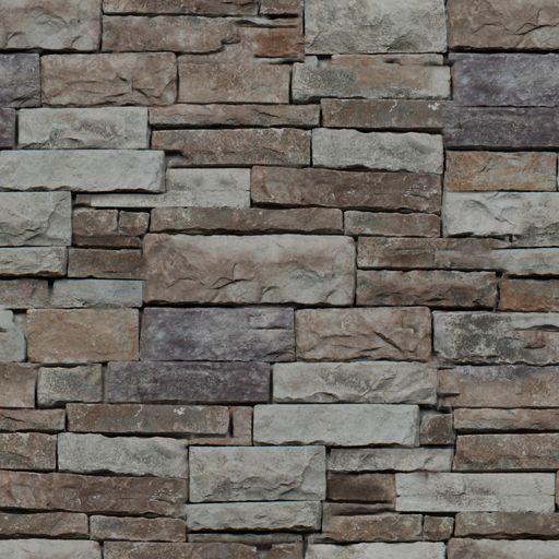 Exterior Stacked Stone Veneer Stack Brown Cedar Creek Chattahoochee Blend Coastal