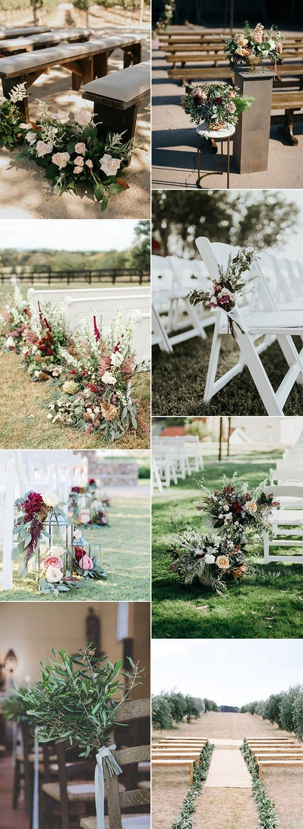 Wedding decorations for outside january 2019  Fall Wedding Aisle Decoration Ideas to Love  Wedding Ideas