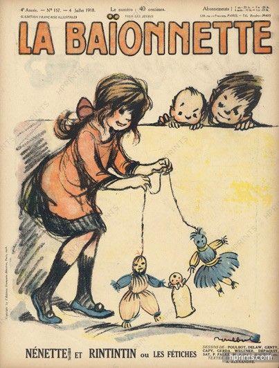 Poulbot 1918 Nénette et Rintintin, La Baïonnette cover, Marionette