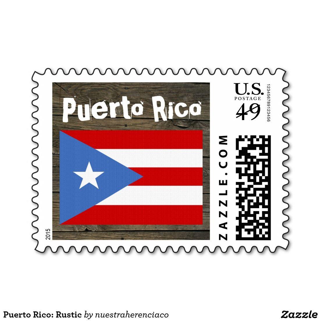 Puerto Rico Rustic Postage Zazzle Com Puerto Rico Rustic Stamp