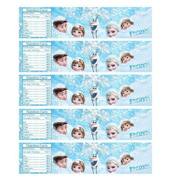 Frozen Water Bottle Labels Free Printable Party Frozen Birthday Party Printables Frozen Themed Birthday Party Disney Frozen Party