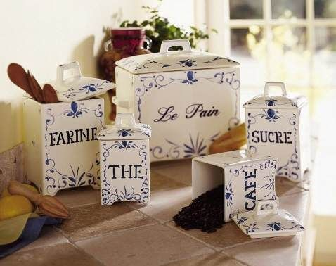 Charles Faudree Country French Kitchen Canister Set