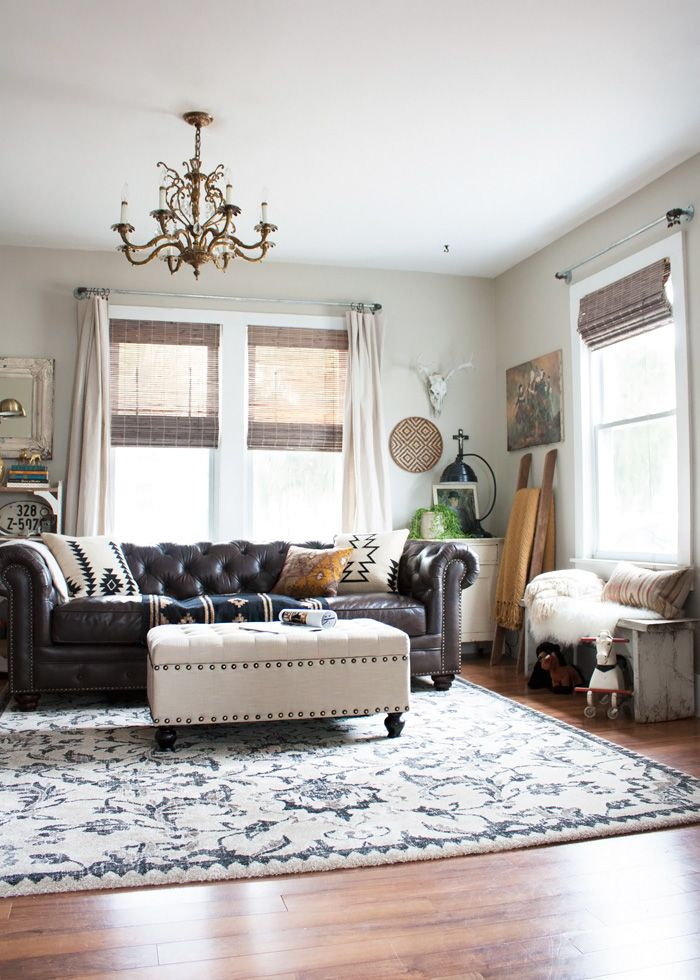 Thoughts From Alice How To Create A Rustic Bohemian Living Room