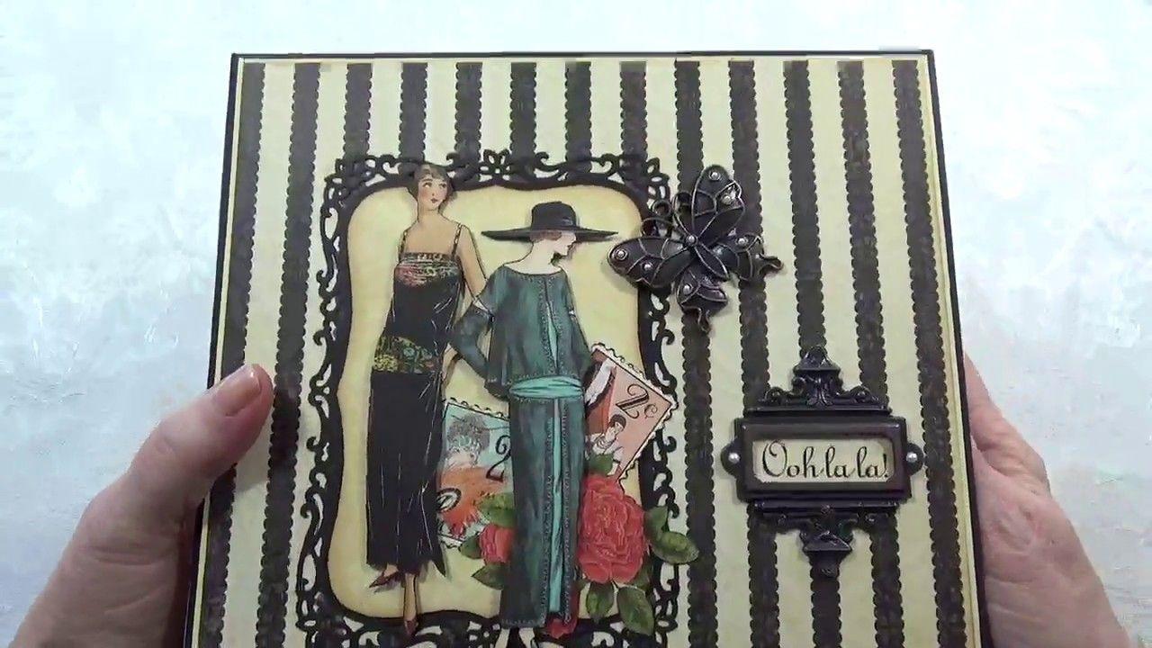 Graphic 45 Couture Keepsake 8 x 8 Chipboard Scrapbook Photo Album