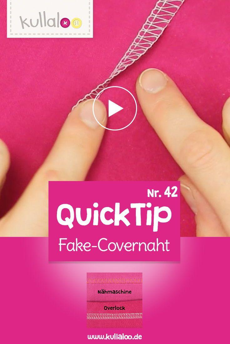 Quick Tip Video: Fake Covernaht nähen   Kontrastfarbe, Sportkleidung ...