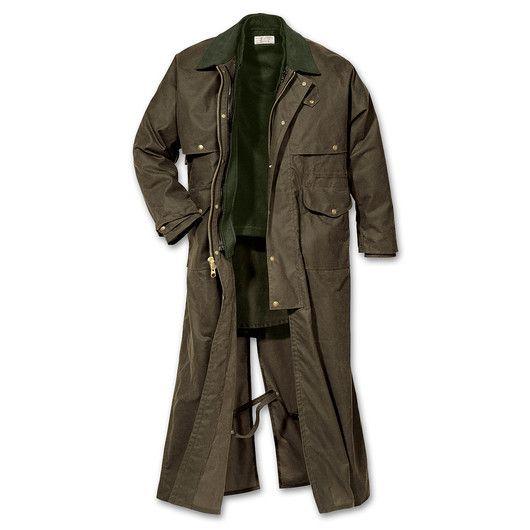 www.Filson.com | Shelter Cloth Duster Coat
