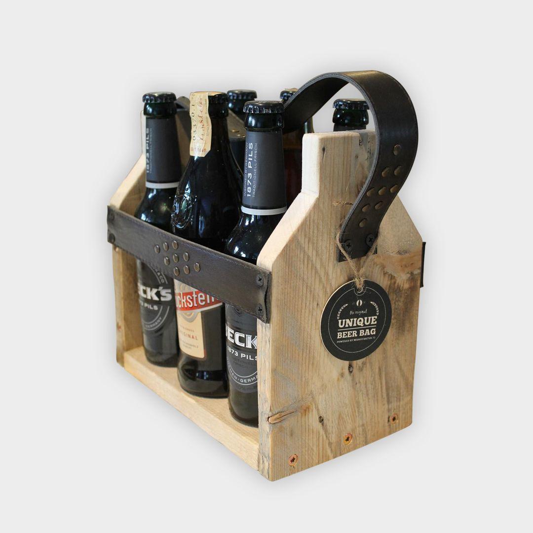 Photo of UNIQUE BEER BAG | UPCYCLING BEER RACK Beer rack for 6 bottles (for 0.5L or …