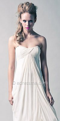 Strapless White Evening Dresses by Laundry $385.00