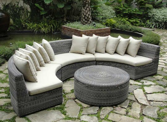 rattan curved sofas sofa s rattan garden furniture garden sofa rh pinterest com