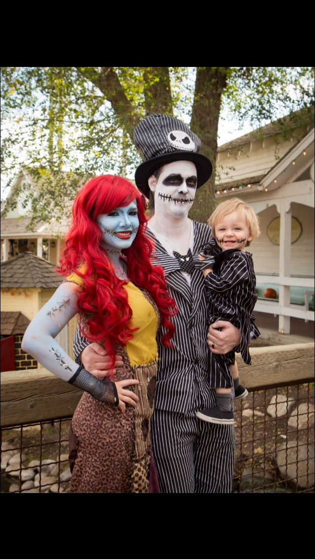 Jack and Sally Family Costume Nightmare Before