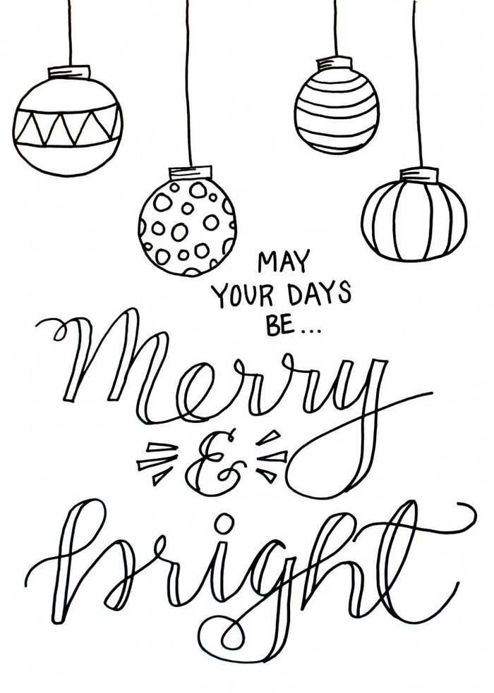 Christmas Ornaments Coloring Pages – Christmas coloring ...