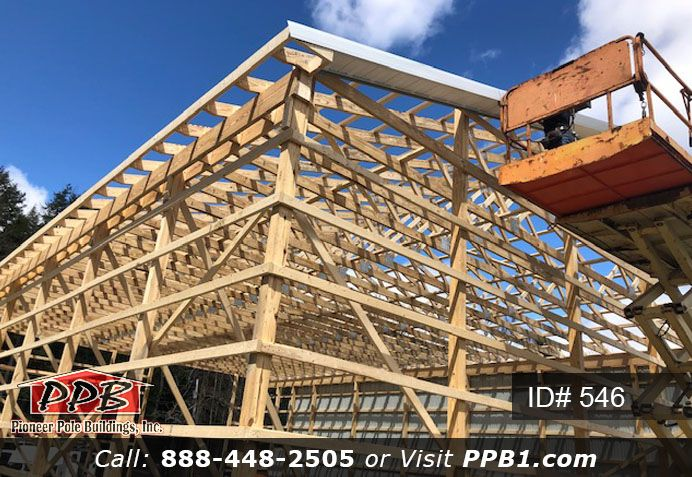 Pole Building Dimensions 40 W X 60 L X 16 4 H Id 546 4 Car Garage 40 Standard Trusses 2 On Center 4 12 Pitch 60f With Images Building Pole Buildings Green Roof