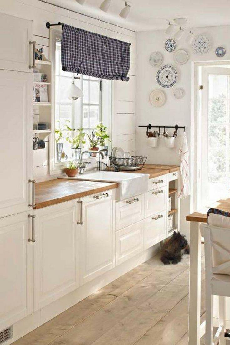 Nyckelelement i utformningen av ett litet modernt kök - Kök Ideer #allwhiteroom