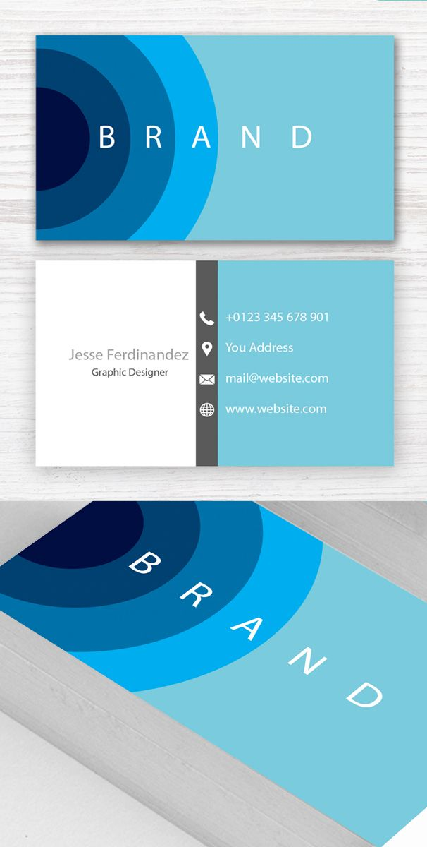 Modern Business Card Template Branding Businesscardtemplates