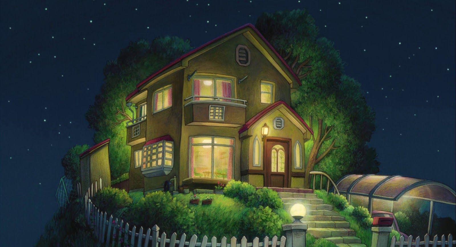 House From The Movie Ponyo Ghibli Anime Background 家 絵 スタジオジブリ ファンタジーハウス