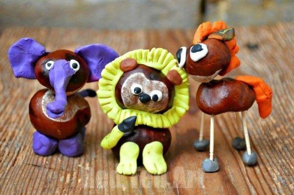 Herbstdeko basteln mit Kindern - 42 ganz einfache und originelle DIY-Projekte #kastanienbastelnkinder