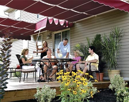 How To Shade Your Deck Or Patio Yard Patio Canopy