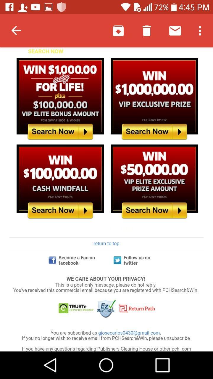 Pch i jcg claim vip elite match rewards & 4 big prizes.