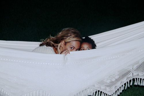 Bey and Blue in Suri's Burn Book.