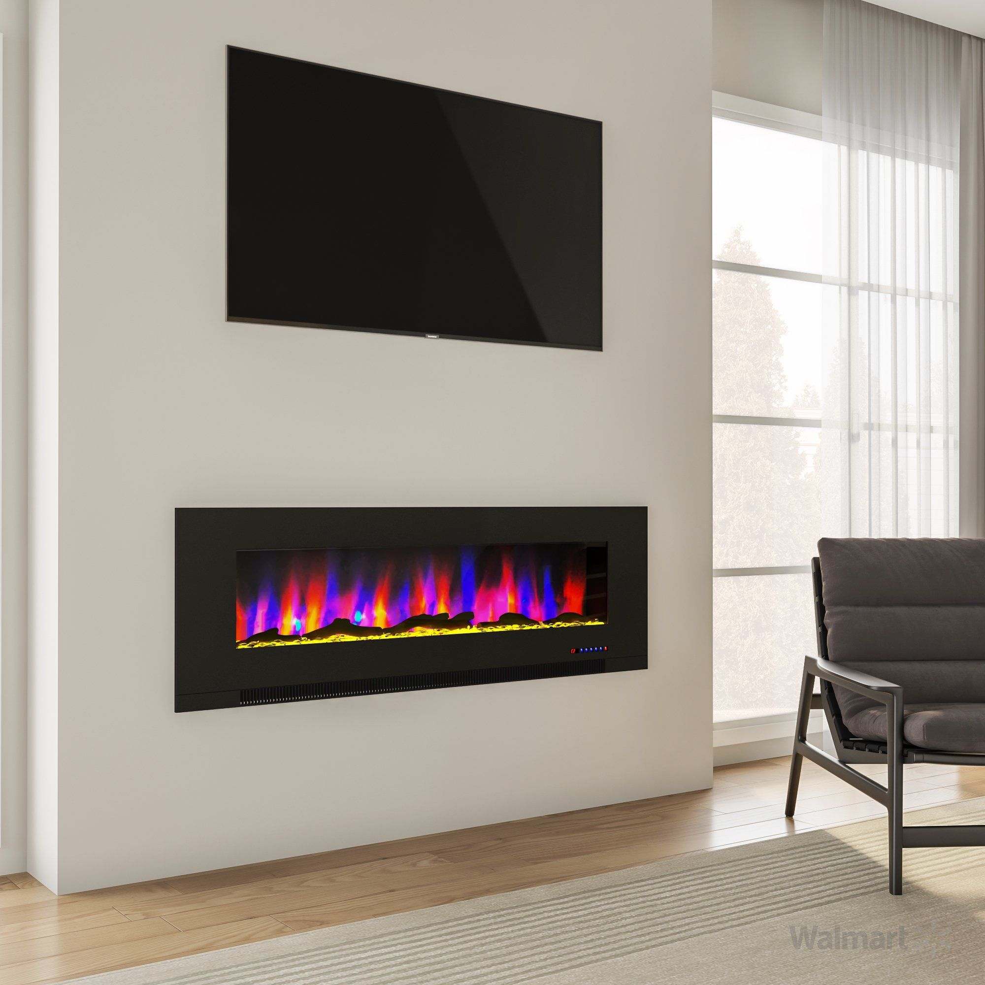 Perfect Electric Insert To Replace Your Gas Log Set Or A Wood Fireplace Fo Realistic Electric Fireplace Stone Electric Fireplace Wall Mount Electric Fireplace