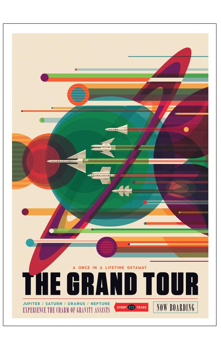 Nasa 1 The Grand Tour Med Billeder Farver Plakater Eventyr