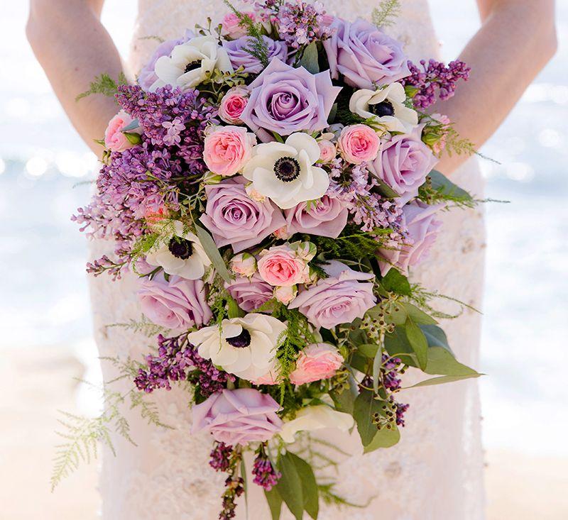 Purple Bridal Bouquet Lavender Roses Lavender Light Pink
