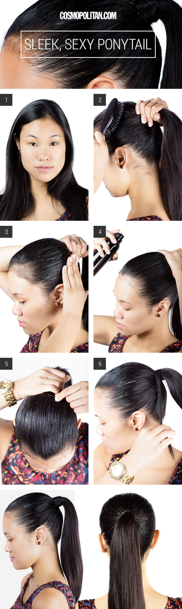 Slickedback ponytail from classy to cute easy hairstyles for
