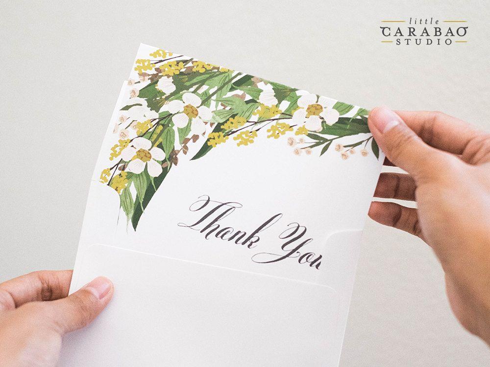 Thank You Card Wedding Thank You Cards Thank You Note ThankYou Thank