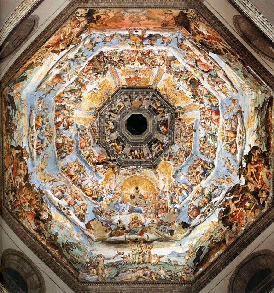 Interior of Filippo Brunelleschi's Dome, Florence Cathedral, Florence, Italy.