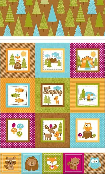 Happy Camper by Doodlebug Design for Riley Blake Designs—Subscribe to our newsletter at http://www.rileyblakedesigns.com/newsletter/