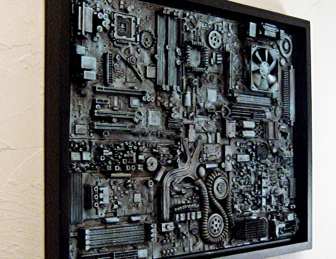 Framed computer wall art big wall art 18x24 unique for Industrial punk design