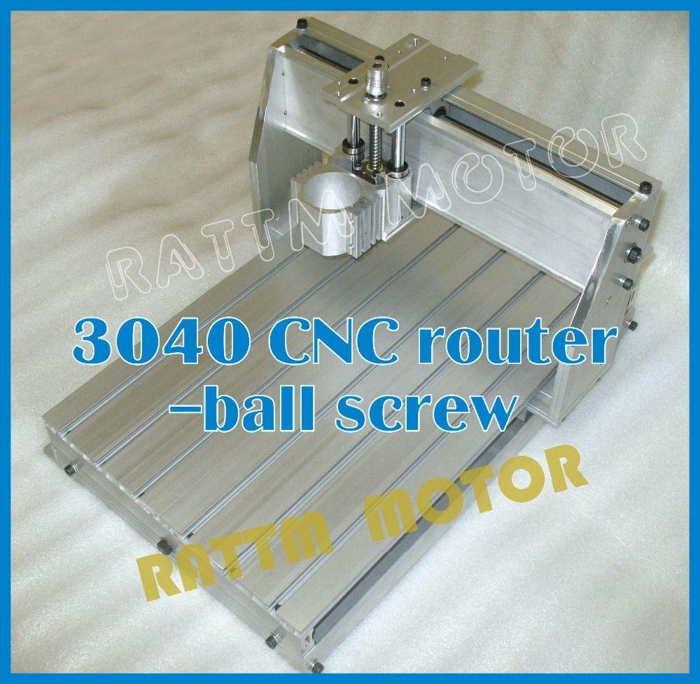 3040 CNC router milling machine mechanical kit CNC aluminium alloy ...
