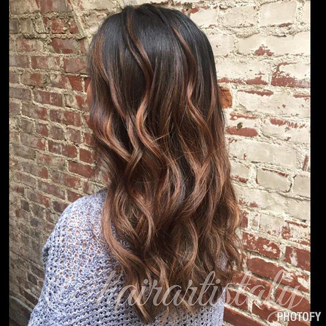 Carmel Highlighted Balayage Long Layered Haircut Hair By Aly