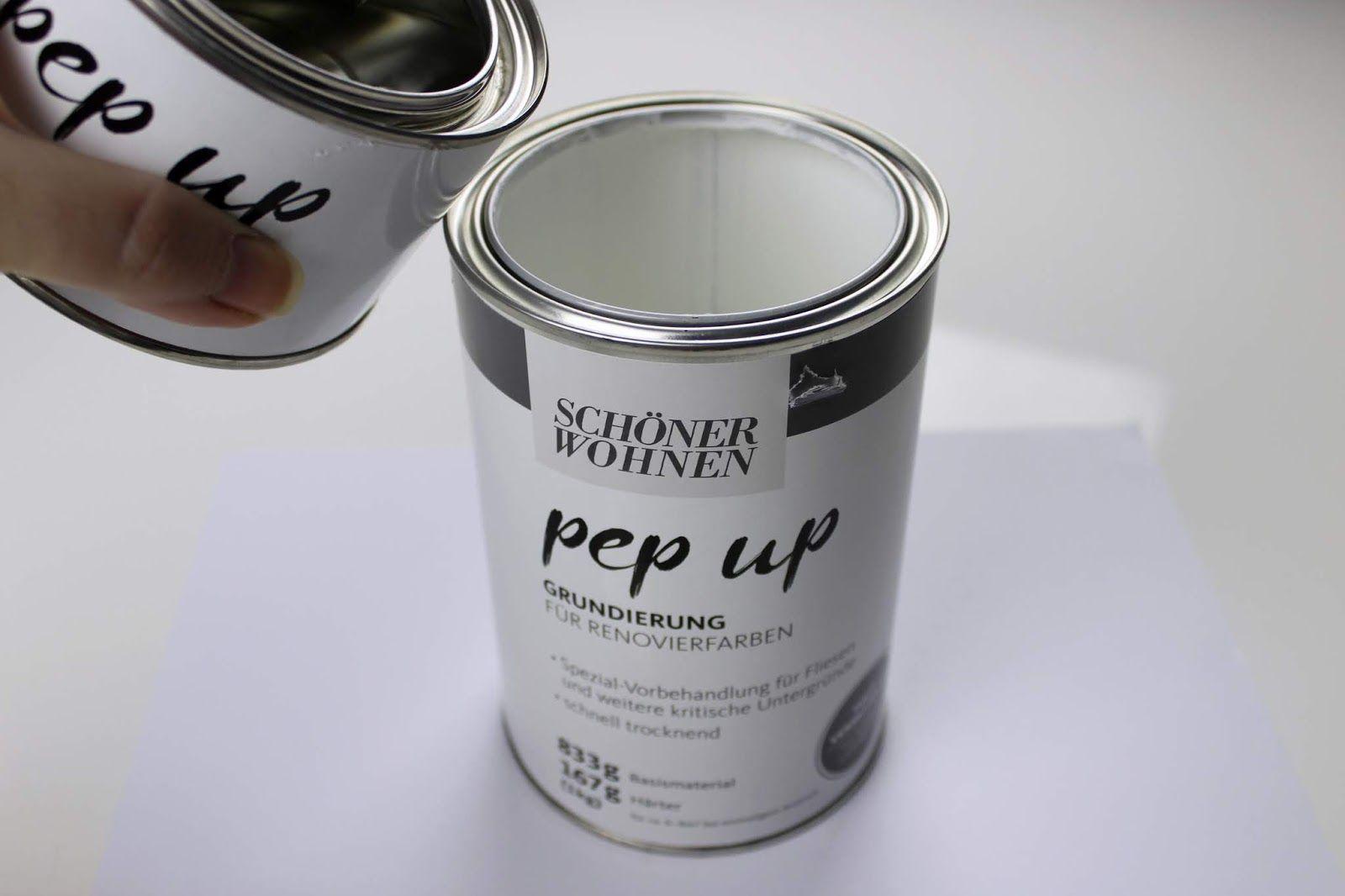 Diy Badezimmer Make Over Einfaches Recylcing Mit Der Schoner Wohnen Pep Up Renovierfarbe Fur Fliesen Badezimmer Streichen Fliesenfarbe Renovieren