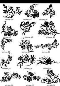 Chinese Blumen Spiegel Dekor Tribal Tattoo Gravur Ebay