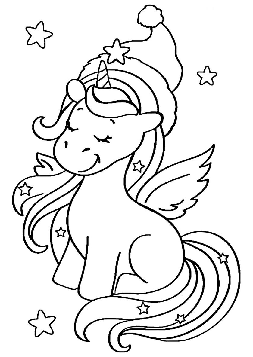 Christmas Dreams High Quality Free Coloring From The Category Unicorn More Printable Pictures On Unicorn Coloring Pages Coloring Pages Free Coloring Pages