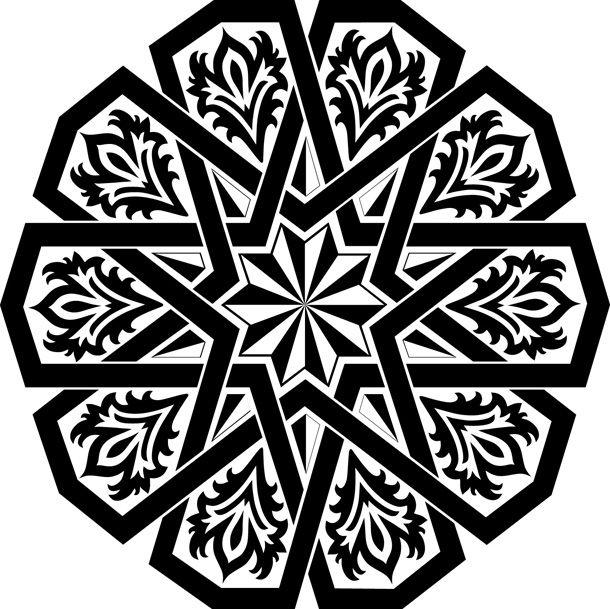 زخارف دائرية رائعة Stencil Patterns Islamic Motifs Islamic Art