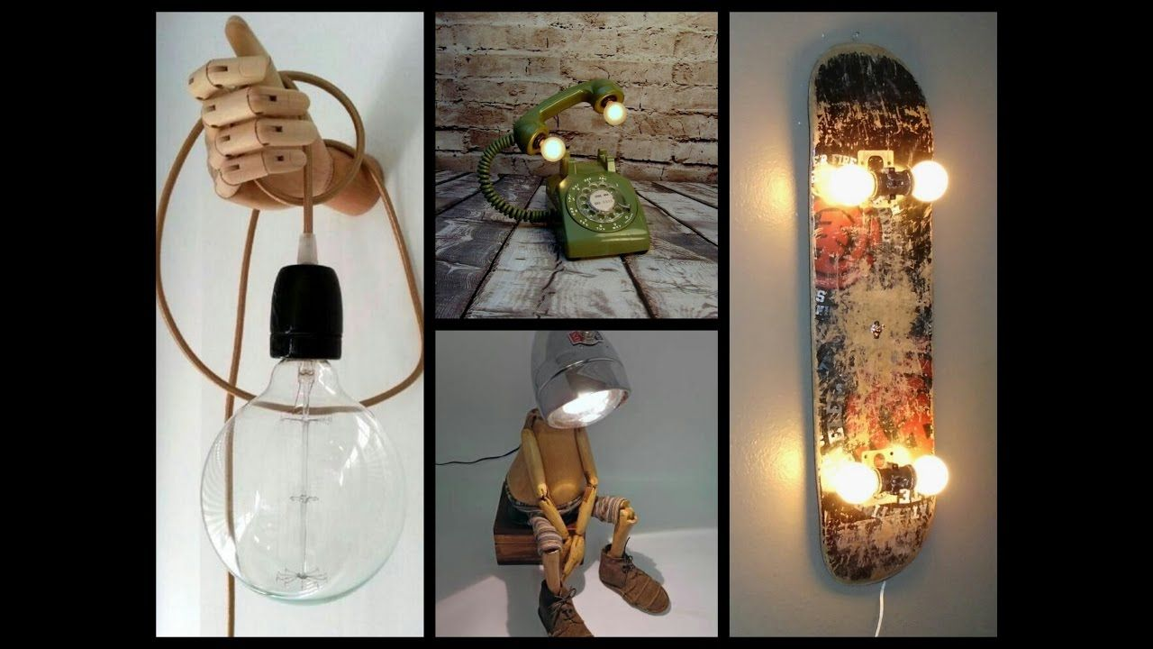 35 Awesome Diy Lamp Ideas Recycled Crafts Ideas Diy Crafts Lights Diy Lamp Steampunk Lamp Diy