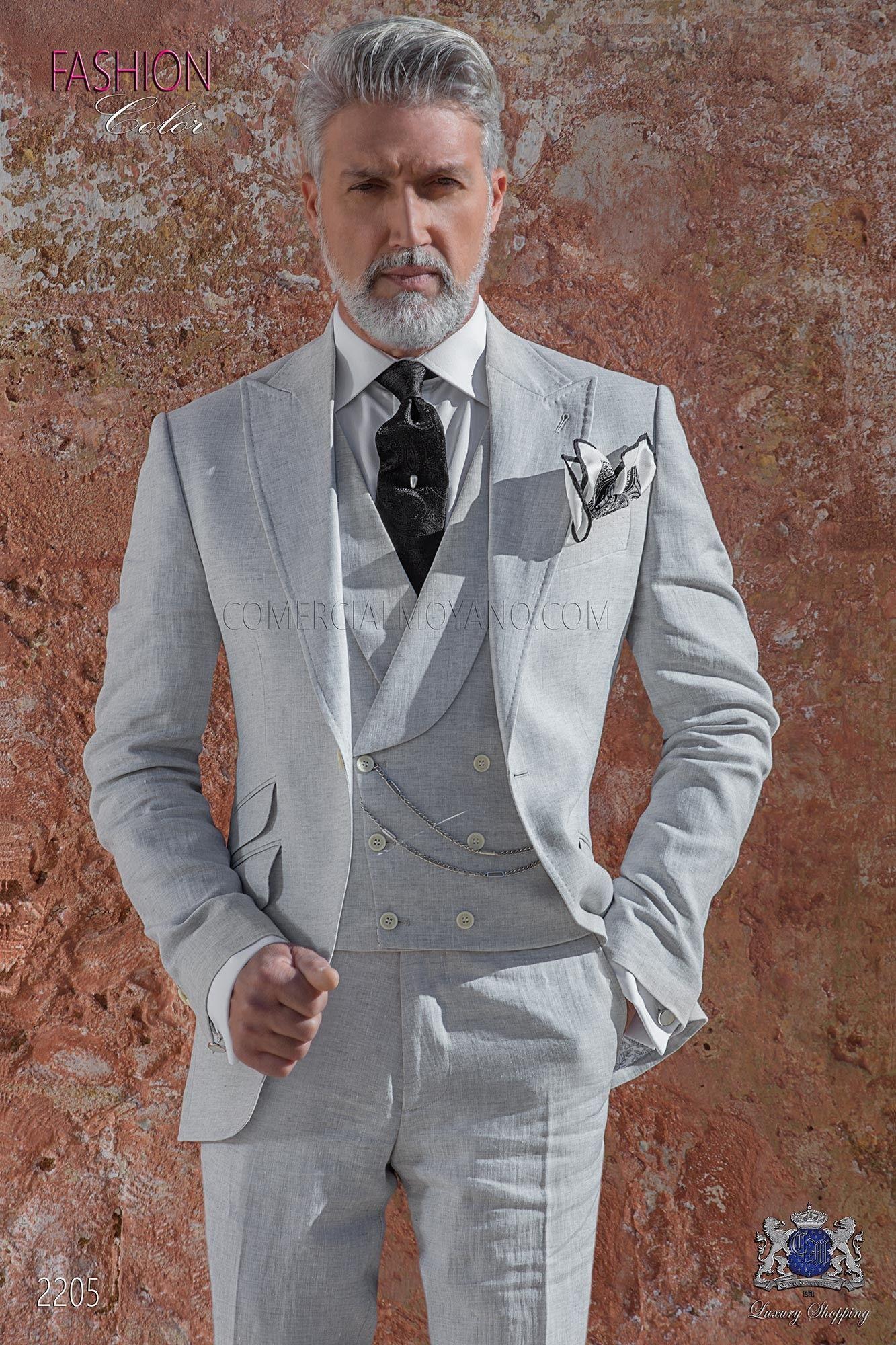 italienisch anzug hellgrau aus reiner leinen suits pinterest italienische anz ge leinen. Black Bedroom Furniture Sets. Home Design Ideas
