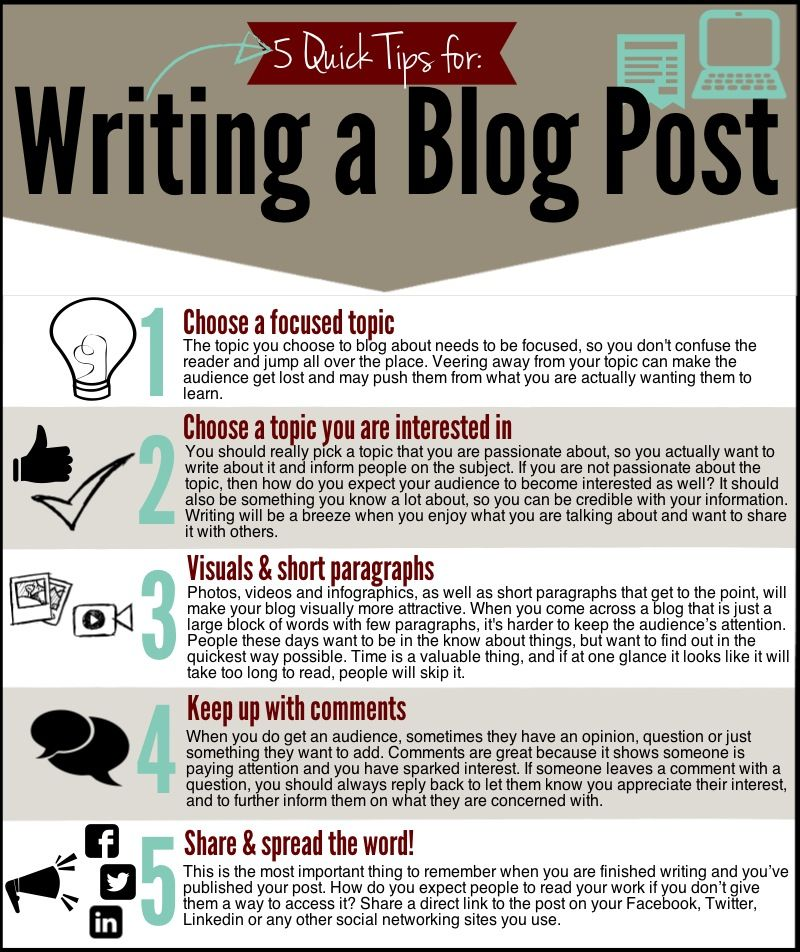 5 Tips for Writing a Blog Post Sparksight Writing tips